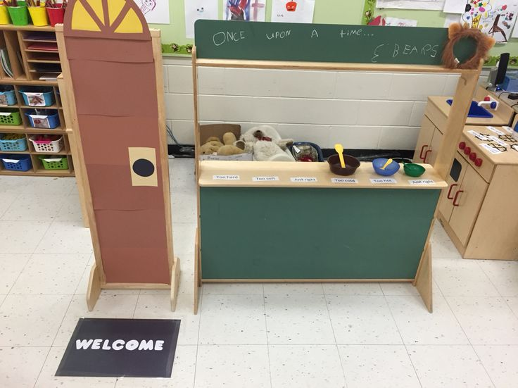 Goldilocks and the 3 bears - dramatic play - retelling the story
