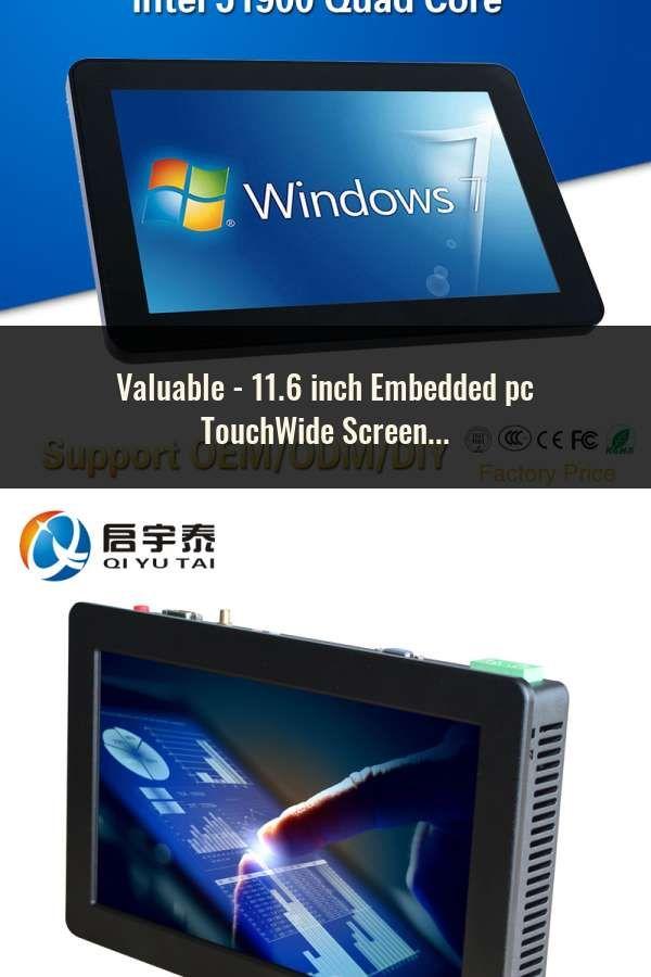 11 6 inch Embedded pc TouchWide Screen 4GB/8GB DDR3 64G/128G SSD