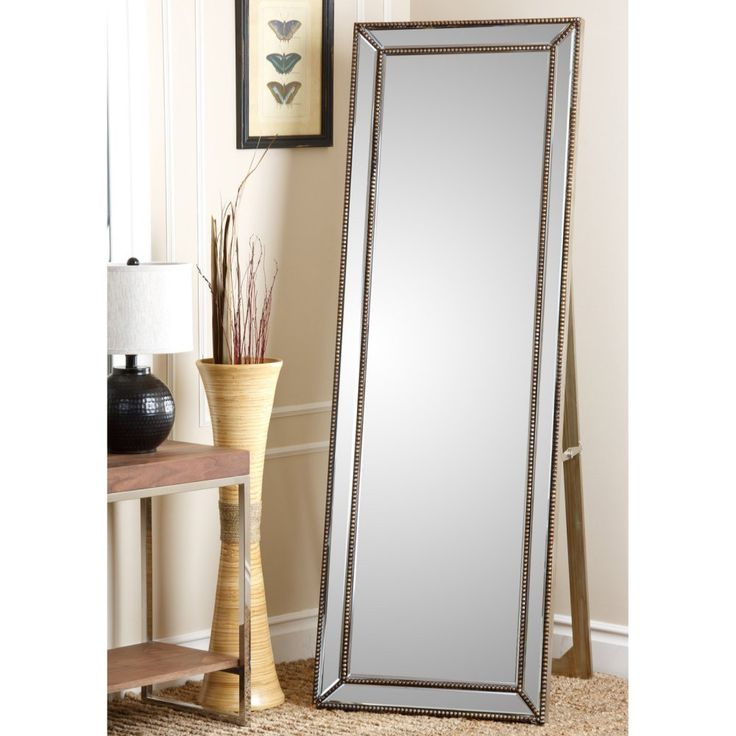 cosmic tarnished gold rectangle cheval floor mirror 215w x 25