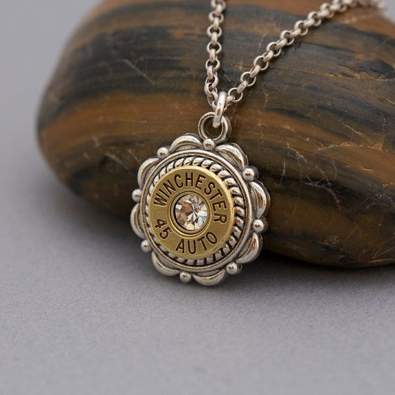 Choice 45 Auto Bullet Necklace-Winchester 45 Auto Bullet Necklace-Remington 45 Auto Necklace-Federal 45 Necklace-Hornady 45 Auto Necklace