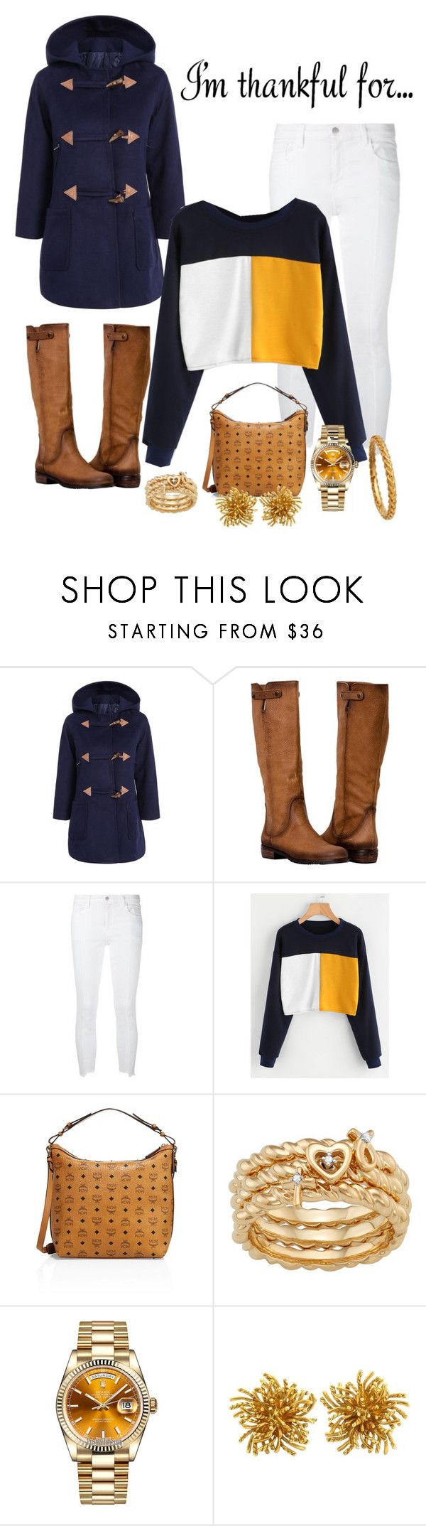 """Thank :;: FUL ;;;"" by ebony320 ❤ liked on Polyvore featuring J Brand, MCM, Rolex, Tiffany & Co. and Astley Clarke"