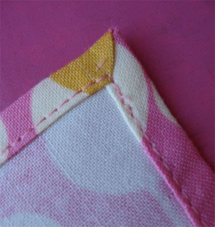 tutorial - how to make your own miter corner napkins. Perfect for the fancy dining room table, parties, wedding etc..