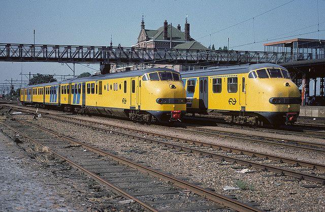 NS - Plan U diesels at Geldermalsen (1983) #ns #dutch #trains