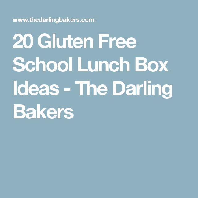 20 Gluten Free School Lunch Box Ideas - The Darling Bakers