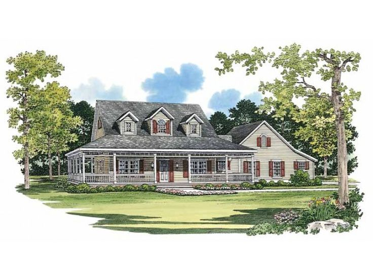 Farmhouse House Plan with 2090 Square Feet and 3 Bedrooms from Dream Home Source | House Plan Code DHSW45341