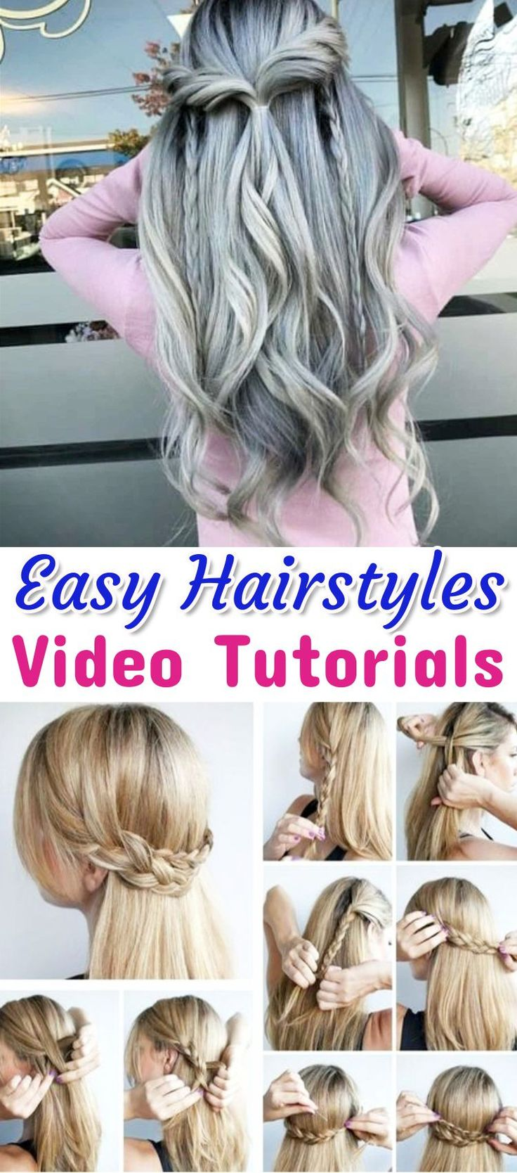 Easy hairstyle ideas video tutorials - easy step by step instructions (great for beginners) #easyhairstylesforbeginners