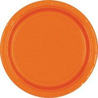 Orange Paper Dinner Plates 20ct  10 1/4in Paper Plates (Might do colors--orange, yellow, green--with a few dinosaur accents -MH)