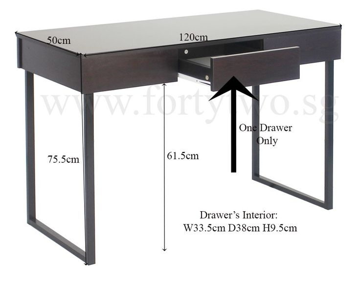 Adney Desk Dark Walnut - Study Desks & Conference Tables - Study Room - Work | Furniture & Appliances | FortyTwo