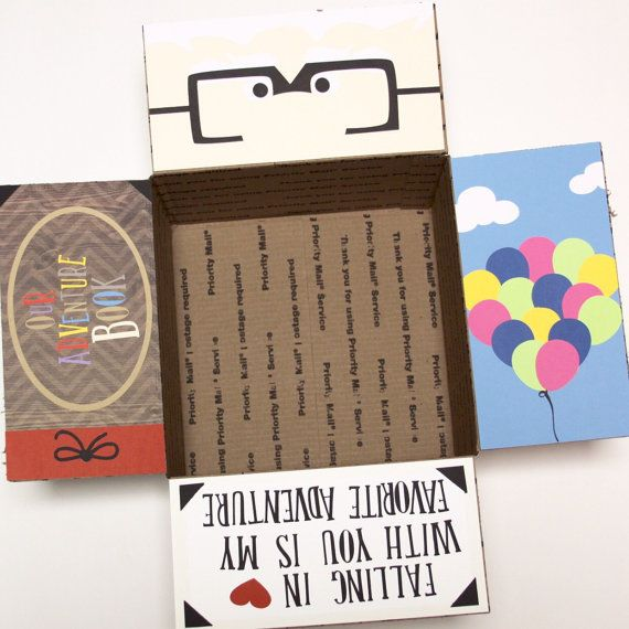 Disney's UP Care Package  Flaps by MilesApartForNow on Etsy