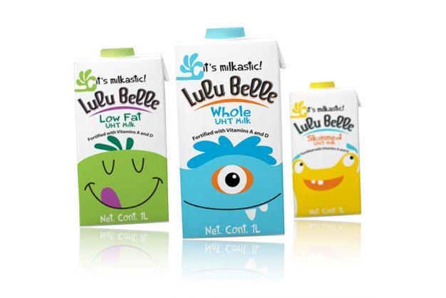 Packaging Creativo para Leche: Lulu Belle || Diseñado por: Soulsight, Estados Unidos