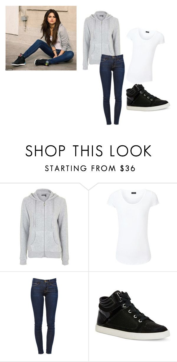 """Selena Gomez"" by maddy-lane235 on Polyvore featuring adidas NEO, Topshop, Joseph, Frame Denim and Calvin Klein"