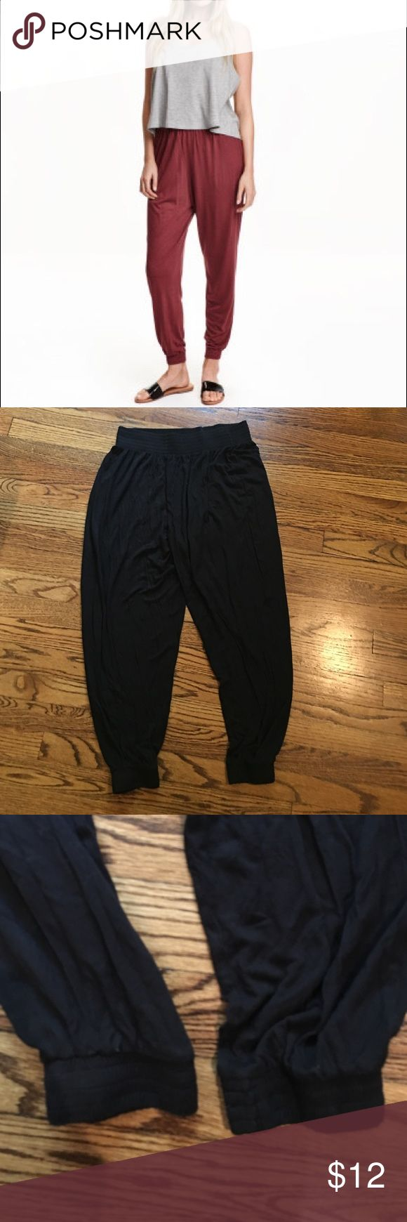 H&M parachute pants Looks like the first picture except in black. Super comfy. Great chic look. Size m. In perfect shape. H&M Pants