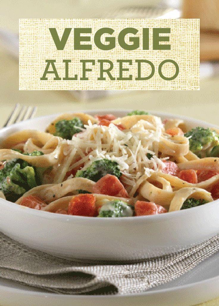 Veggie Alfredo | Recipe | Pasta Dinners, Dinner Tonight and Veggies
