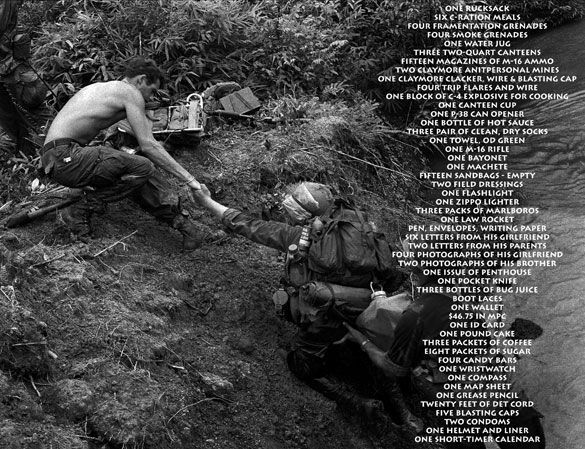 "the things they carried war The burden in the things they carried essay sample ""the things they carried"", a short story written by tim o'brien, displays an unfolding sequence of events that strongly examines the physicical, psychological, and emotional damage the soldiers beared during the vietnam war."