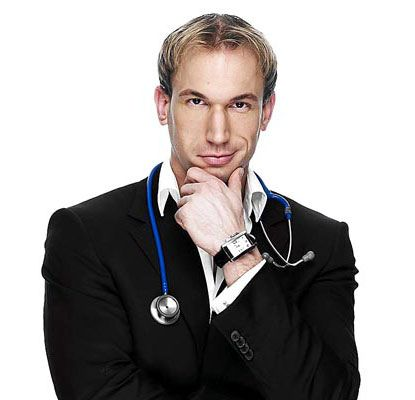 Dr. Christian Jessen - a medical pt. Barnum if there ever was one. From the show Embarrassing Bodies & Supersize/Superskinny.