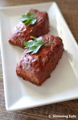 Mini Meatloaves with a Tomato Glaze | Slimming Eats - Slimming World Recipes