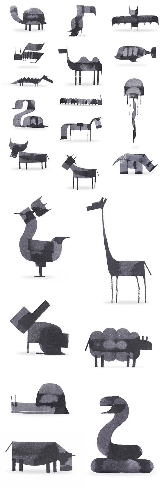 New Calligraphy Animals by Andrew Fox:                                                                                                                                                                                 More