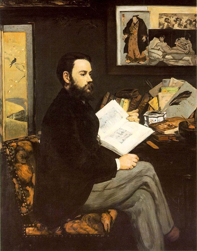 Édouard Manet, Ritratto di Émile Zola, 1868. Olio su tela, 146×114 cm. Musée d'Orsay, Parigi