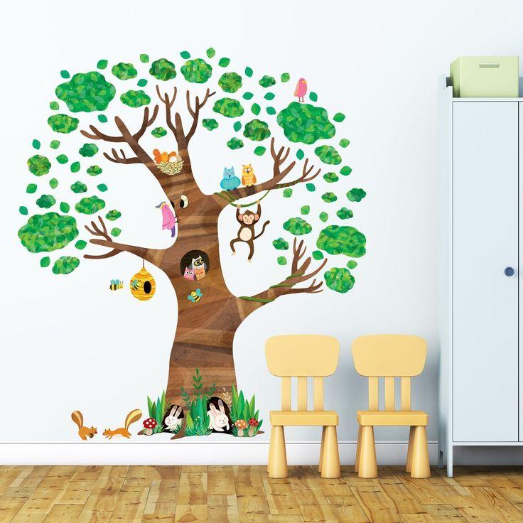 Decowall DL-1709 Arbre Géant Animaux Autocollants Muraux Mural Stickers Chambre Enfants Bébé Garderie Salon: Amazon.fr: Cuisine & Maison