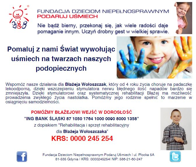 http://www.podarujusmiech.org/pl/podopieczni/447-baej-wooszczak-potrzebuje-pomocy-i-rehabilitacji-w-osigniciu-samodzielnoci.html