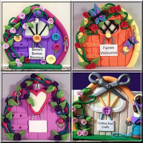 How to make polymer clay fairy doors ://leahg.me/how