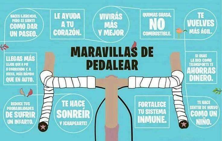 Las maravillas de pedalear #ciclismo #bicicleta #salud