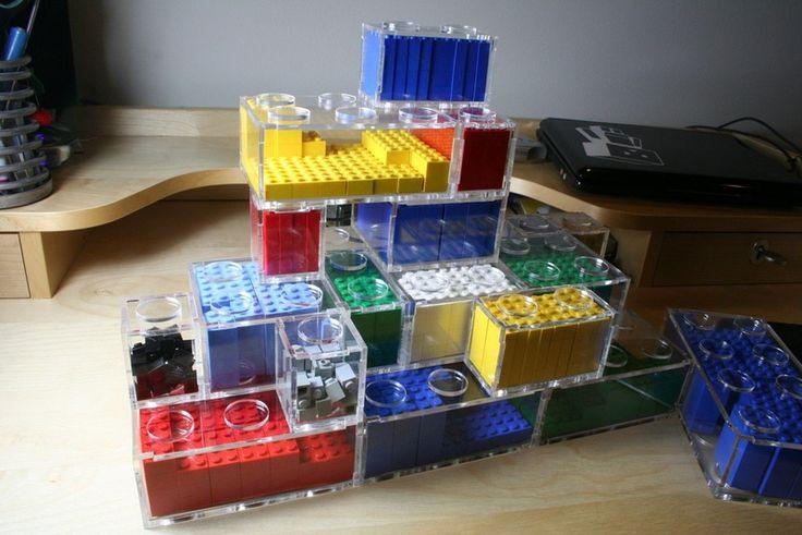 creative ideas | 10 Cool DIY Lego Storage Ideas » Modular DIY Lego Storage (via ...