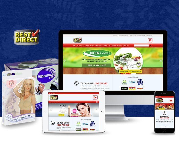 A modern, #responsive website design of Best Direct.