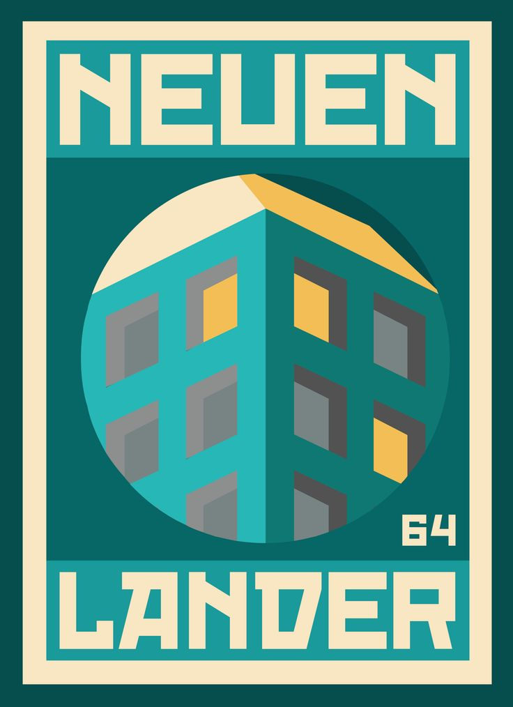 """""""NEUENLANDER 004"""" poster series, dedicated to the place, Neuenlanderstrasse 64, where I'm living during my Bremen stay. #graphicdesign #illustration"""