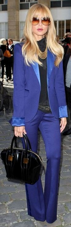 Jacket, purse and pants - Racel Zoe Rachel Zoe Royal Blue Hutton Tuxedo Blazer Rachel Zoe Morrison Large Tote Rachel Zoe Tote - Morrison Medium #blue