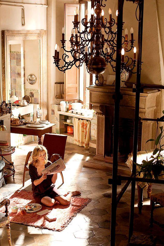 Film Mange, Prie, Aime. La maison en location en Italie.
