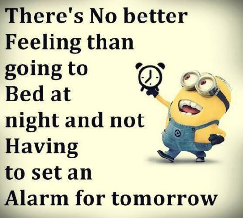 Minions, bed, alarm clock. 。◕‿◕。 See my Despicable Me  Minions pins https://www.pinterest.com/search/my_pins/?q=minions