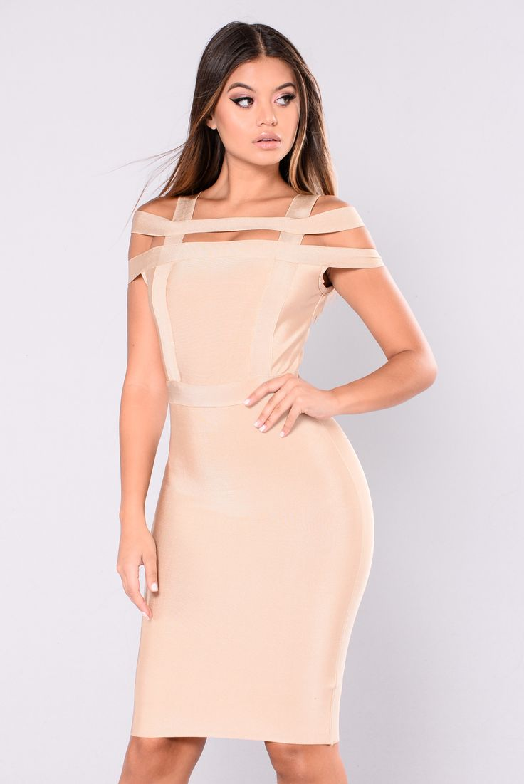 Devi Bandage Dress - Latte