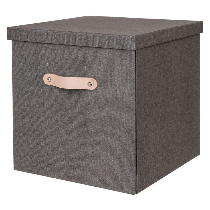 Box canvas hög grå vikbar. Klädförvaring.