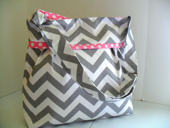 Hey, I found this really awesome Etsy listing at https://www.etsy.com/listing/129164669/chevron-diaper-bag-made-of-gray-and-pink