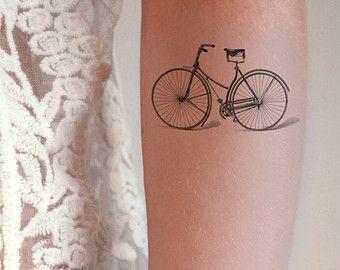 Vintage bicycle / bike temporary tattoo