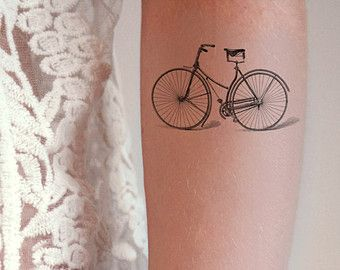 Vintage bicycle / bike temporary tattoo