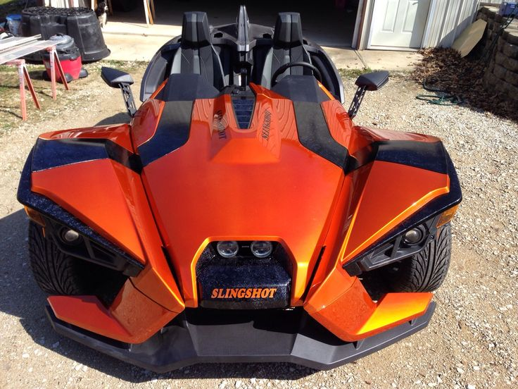 A new paint job on the Polaris Slingshot. How sweet is this?!