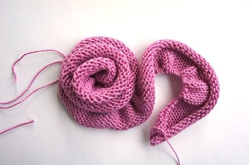Sew rose with long wire knitting