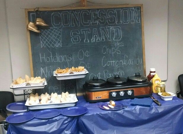 Basketball Baby Shower, Concession Stand, Work Baby Shower, Guys Baby Shower