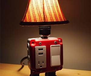 usb charger outlet lamp lighting pinterest usb. Black Bedroom Furniture Sets. Home Design Ideas