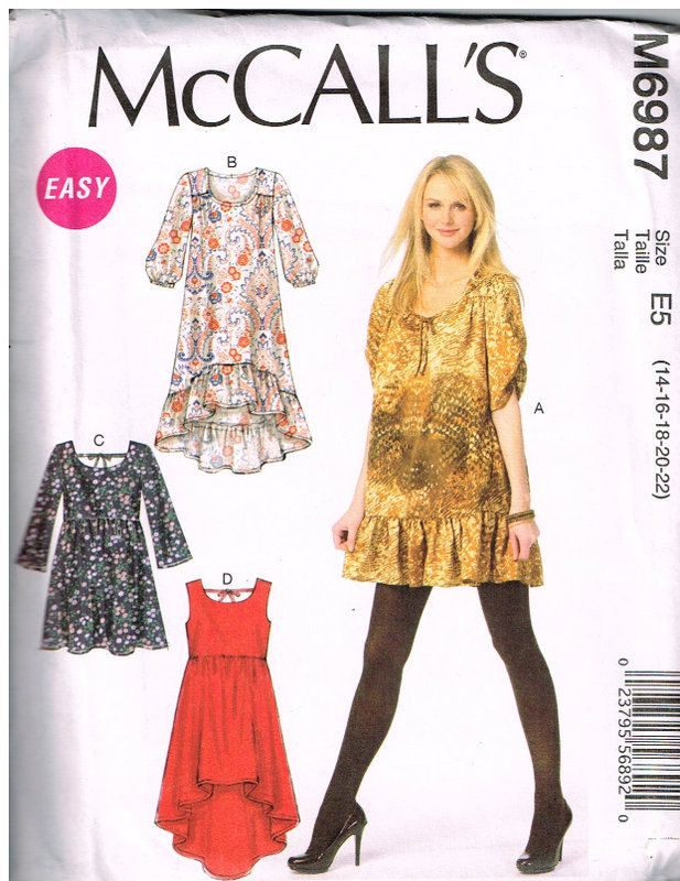 McCall's M60 Sewing Pattern Misses' Dresses' Size 60 60 60 Gorgeous Mccalls Patterns