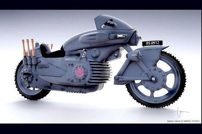 Lotus C-01 superbike | Hydra Bike chamou atenção no fiilme Capitão América
