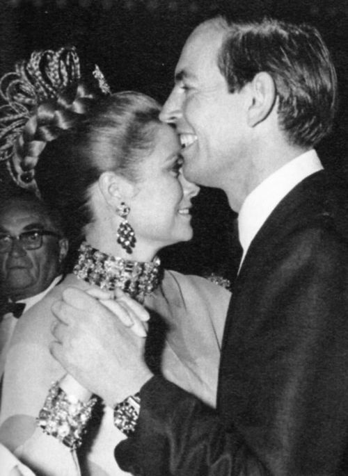 Monaco, August 9, 1968: Princess Grace of Monaco and Dr. Christiaan Barnard, the famed South African heart transplant surgeon.