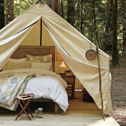 Bed in a Tent - Gl&ing & 17 Best images about Dreams of the Outdoors on Pinterest | Easy ...