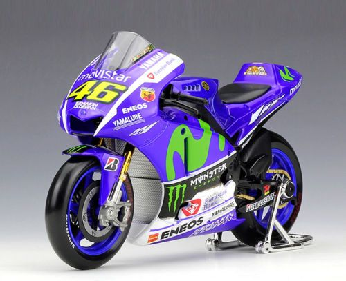 Collectible 1:18 YAMAHA No.46 Motorcycle Model Valentino ROSSI 2015 Moto GP YZR M1 Diecast Moto Kids Toys Collection Gifts