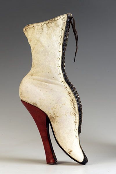 Heritage shoes from the Show Collection, Northampton Museums & Art Gallery. - for a moment I thought I was looking at one of the Louboutin fetish collection!