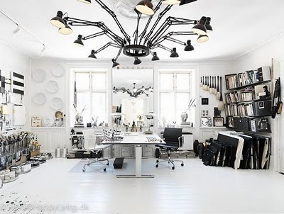 These lights would be amazing for an art studio. I'd want some color in the room, though...
