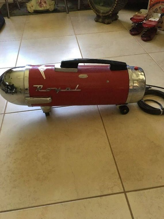 Red mid century modern 1950's Royal vacuum cleaner ATOMIC