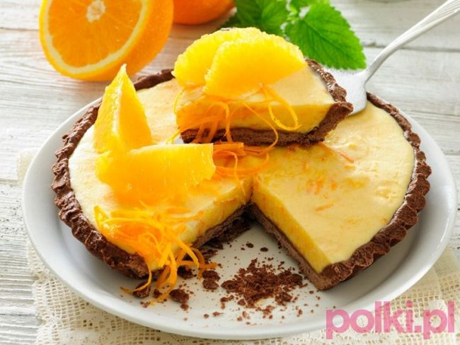 tarta pomarańczowa przepis, przepis na tartępomarańczową, tarta z pomarańczami przepis